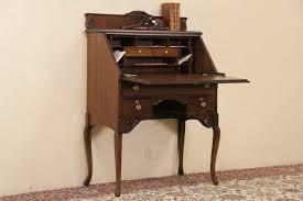 sold victorian 1900 antique oak secretary desk harp gallery