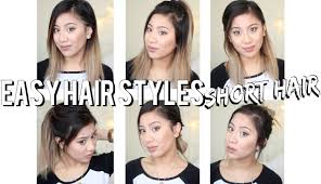 quick easy hair styles for short hair youtube