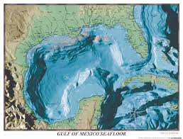 map of the gulf of mexico gulf of mexico sea floor map gulf of mexico mappery