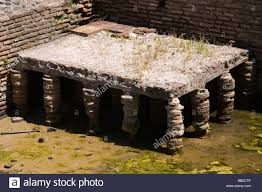 roman hypocaust heating system remains at fishbourne roman palace