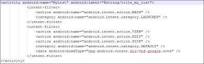 android intent handling intent filters learning android intents book