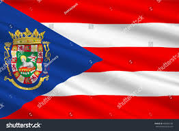 Flag Puerto Rico Flag Puerto Rico State Located Northeastern Stock Illustration
