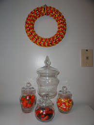 peppermint twists candy corn halloween wreath
