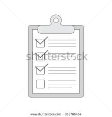 hand drawn notebook do list check stock illustration 358786454