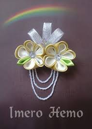 220 best kanzashi satin flowers images on crowns