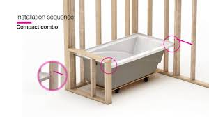 Baby Bath Tub With Shower Maax Modulr Combo Shower And Bathtub Installation Youtube
