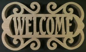 assorted scroll saw welcome signs mike fehrings artistry in wood