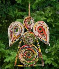 ornaments recycled paper from magazines rolled and used to
