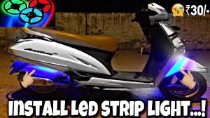 Install Led Light Strip by How To Install Led Strip Light Ii For All Scooters Youtube