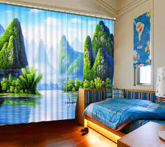 online get cheap open bed aliexpress com alibaba group home decor 3d curtains drapes for bed room living room office hotel fairyland scenery modern hook