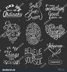 set inspirational motivational typography slogans greeting stock