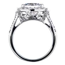 10mm ring cushion cut cz halo engagement ring 10mm