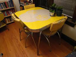 yellow kitchen table and chairs yellow retro kitchen table chairs home decor interior exterior