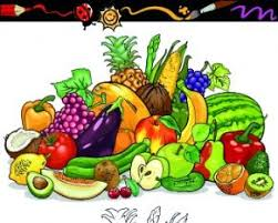 color with sketch fruit and vegetables vector free vectors ui