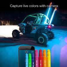 led light whip for atv xkglow xkchrome ios android app bluetooth smartphone control 1x led
