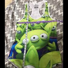 48 disney tops toy story alien racerback tank