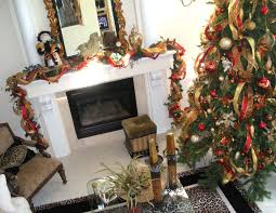 red and gold mesh ribbon christmas tree decorating ideas