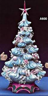 ceramic christmas tree with lights christmas season vintage white ceramic christmas tree