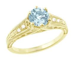 antique aquamarine engagement rings aquamarine engagement rings vintage aquamarine engagement rings