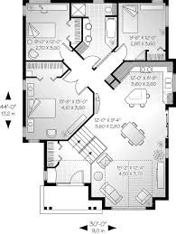 saunders narrow lot ranch home plan 032d 0145 house plans and more contemporary house plan first floor 032d 0145 house plans and more