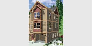 3 story house plans narrow lot homely ideas 7 duplex house plans and