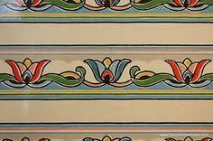 1930 u0027s 1940 u0027s vintage wallpaper border art deco orange blue