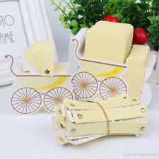 baby shower paper candy box stroller shape birthday party