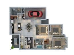 layout ruangan rumah minimalis 30 denah rumah minimalis 3 kamar tidur 3d tiga dimensi fimell