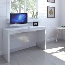 modern high gloss white home office desk computer pc table