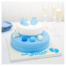 easy entertaining blue booties christening madeira cake tesco