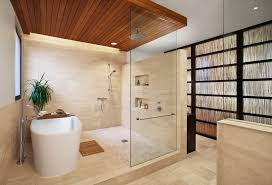 ceiling mounted shower bathroom contemporary with honeycomb tile
