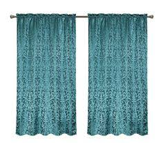 Gold And Teal Curtains All American Collection New 1 Panel Embroidered Curtain With