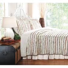 greenland home fashions bella ruffle 2 piece quilt set hayneedle