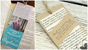 wedding favor d i y bookmark wedding favors the thinking closet