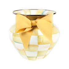 buy mackenzie childs parchment check enamel vase large amara