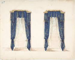 Blue And Gold Curtains Anonymous 19th Century Design For Blue And Gold