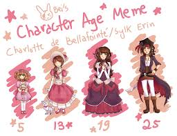 Character Memes - character age meme charlotte sylk by thepiratebei on deviantart