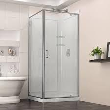 dreamline flex 36 in d x 36 in w kit with pivot shower door in