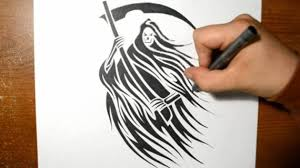 how to draw grim reaper drawing a grim reaper tribal design