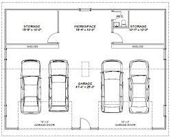 10 fresh 4 car garage dimensions building plans online 14339