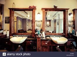 men u0027s barber shop retro styled interior design stock photo