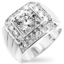 all diamond ring men s frosted 14k white gold simulated diamond ring all things