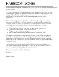 Software Engineer Cover Letter software engineer cover letter exles for engineering livecareer
