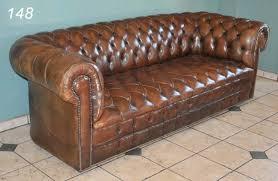 Leather Tufted Sofa Chesterfield Tufted Leather Sofa Centerfieldbar Com