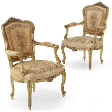 Louis 15th Chairs Exceptional Pair Of Gilt French Louis Xv Fauteuil Arm Chairs C 1870