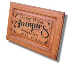 Custom Wood Cabinet Doors by Business Sign Custom Sign Carved Wooden Sign Personalized