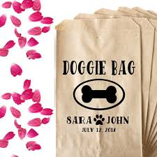 wedding treat bags wedding doggie bag favor st dog biscuit favor wedding