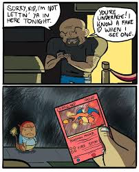Charmander Meme - charmander can t get a real id yet so he fakes a 1st edition charizard