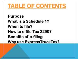 form 2290 tax computation table e file form 2290 with expresstrucktax com