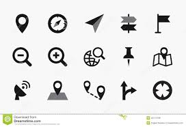 Map Symbols Map Icons Mono Vector Symbols Stock Vector Image 49174796